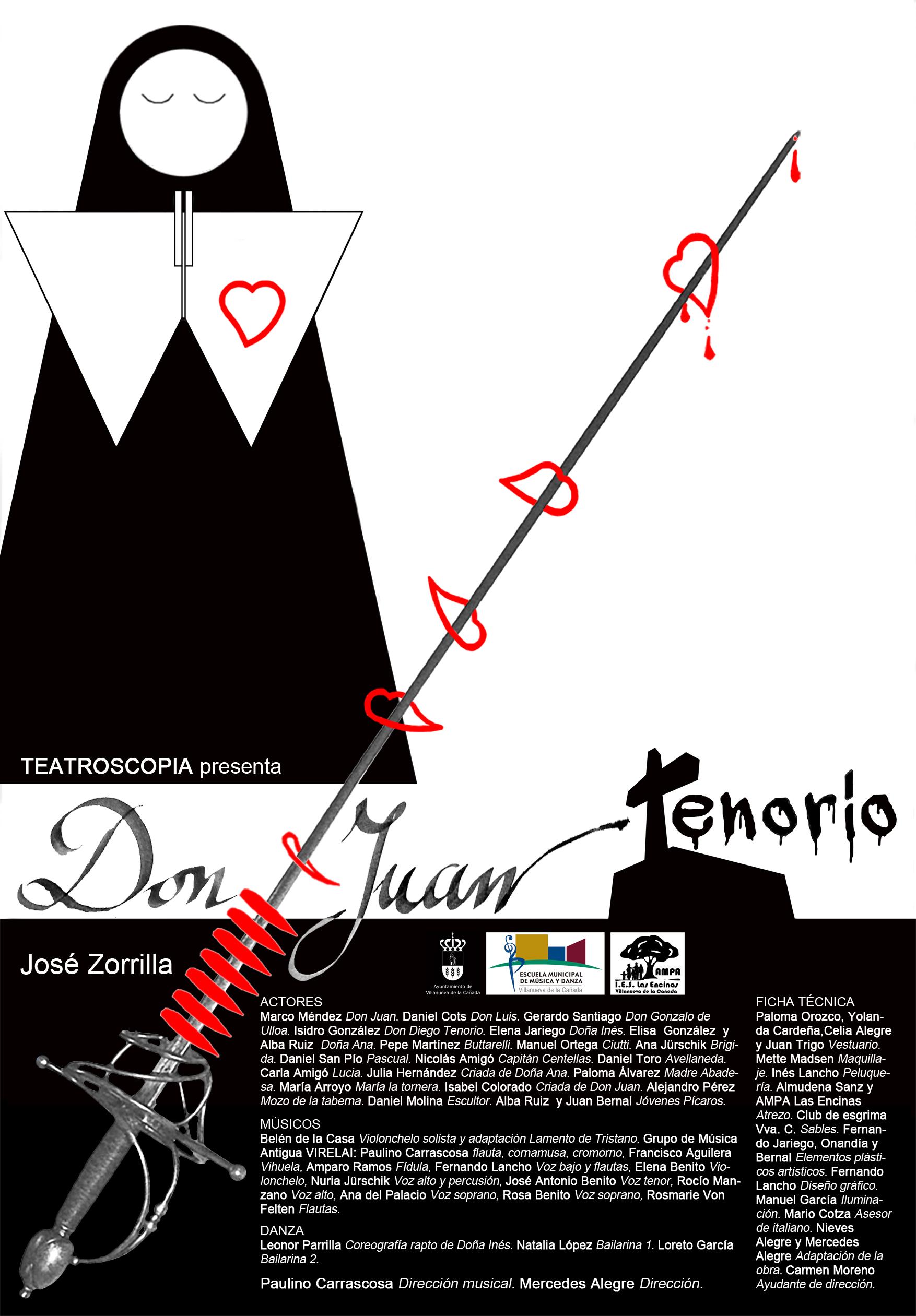 """Don Juan Tenorio"" por Teatroscopia. 21 de noviembre en La Despernada."