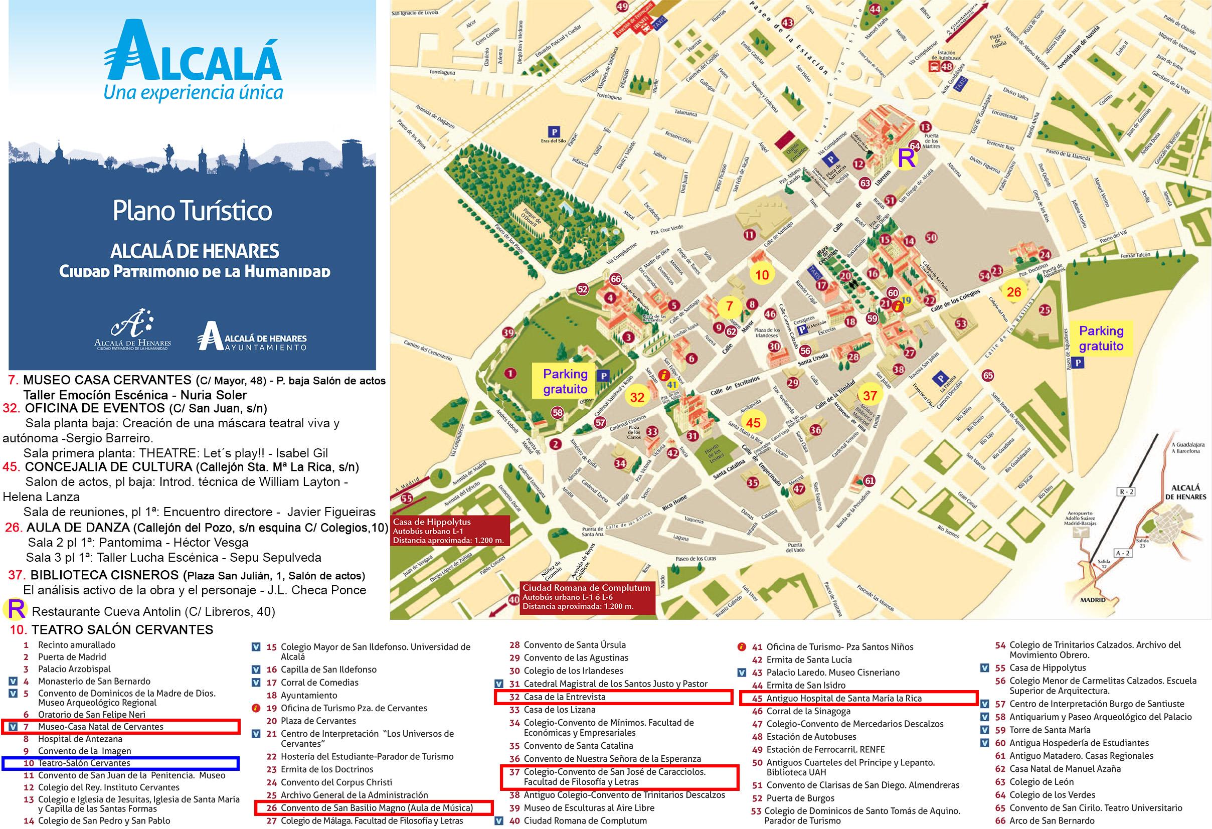 Plano Alcala - ubicaciones