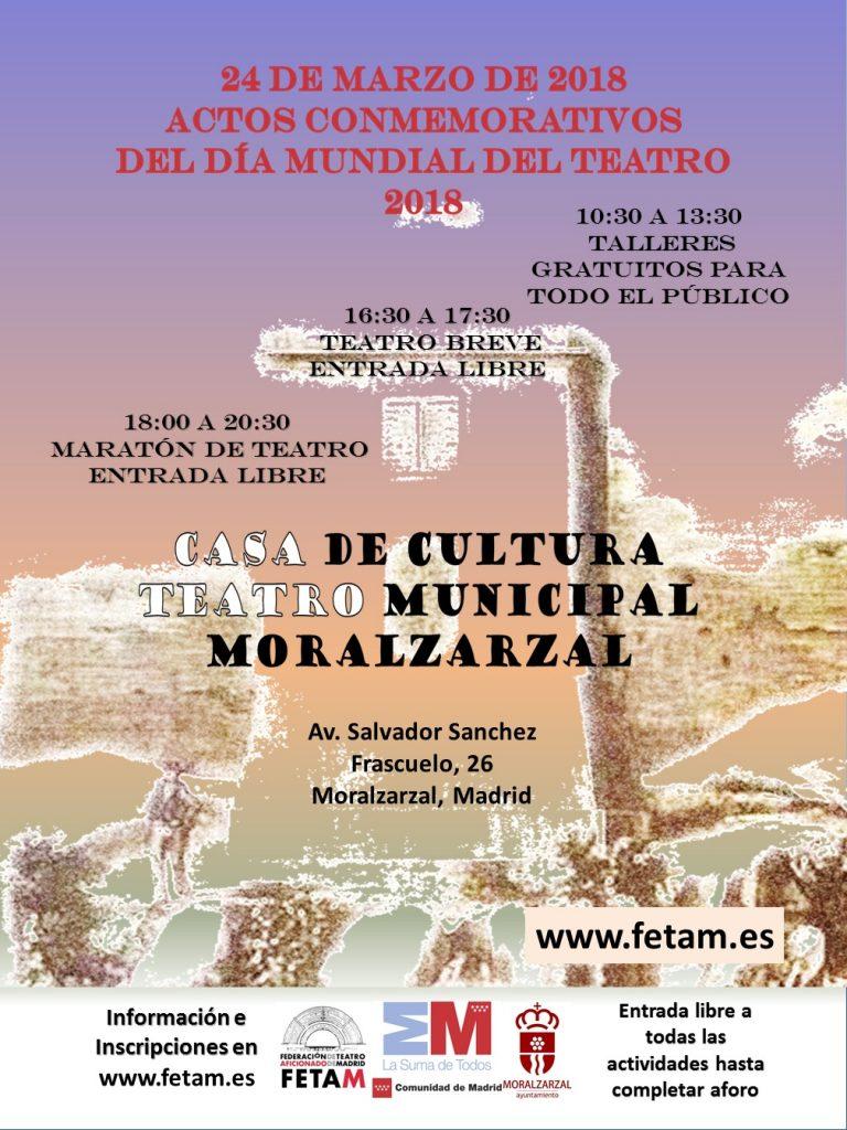 Día Mundial del Teatro 2018. Inscripción gratuita