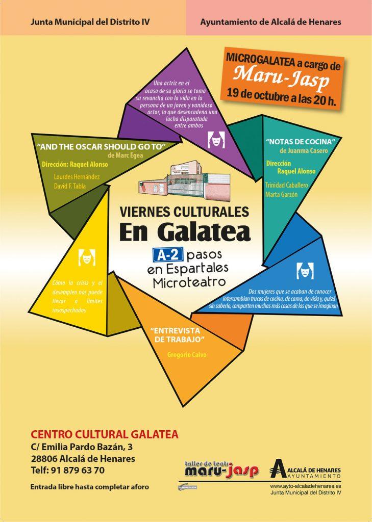 """Maru-Jasp en los """"Viernes culturales en Galatea"""" con microteatro"""