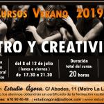Apertura de plazas Teatro Verano 2019: curso intensivo